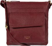 Ruby Red etta Soft Leather Cross Body Bag