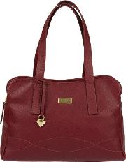 Ruby Red lorin Soft Leather Handbag