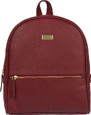 Ruby Red renee Fine Leather Backpack