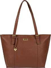 Sienna Brown penny Leather Tote Bag