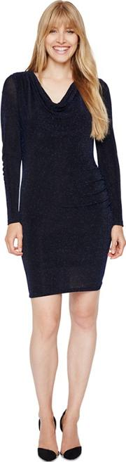 Black And Blue Dasia Shimmer Jersey Dress