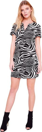 Black Zebra Print Tunic Dress