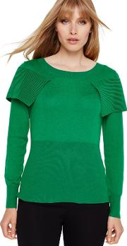 Emerald Agnes Fold Over Knitted Jumper