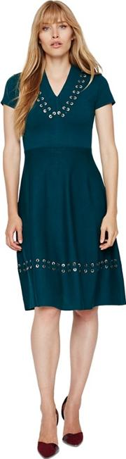 Etta Eyelet Detail Knit Dress