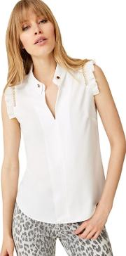 Ivory Mollie Chain Detail Blouse