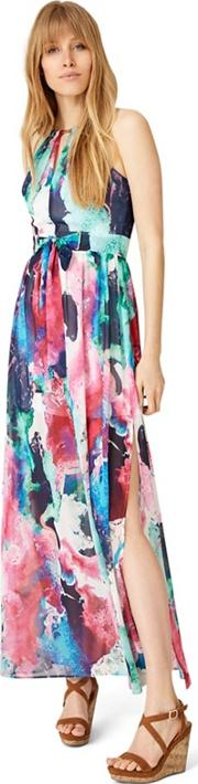 Multicoloured Amazon Print Maxi Dress