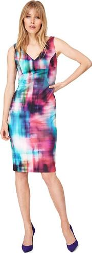 Multicoloured Mixologist Print Scuba Dress