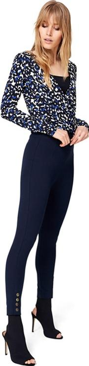 Navy Bree Cropped 78 Trousers