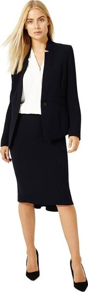 Navy City Suit Skirt