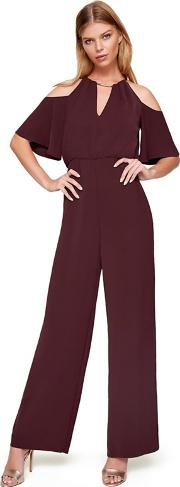 Red Asha Double Layer Jumpsuit