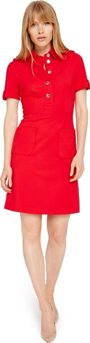 Red Clio Tunic Dress