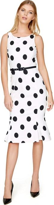 White Lillia Spot Dress