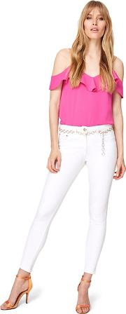 White Mica Belted 78 Jeans