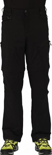 Black Tuned In Zip Off Trouser