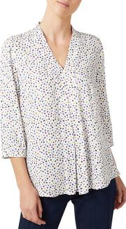 Small Floral Texture Blouse