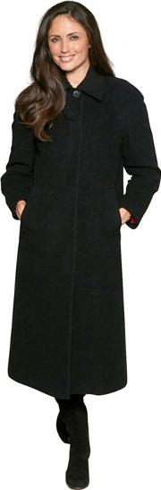 Black Cashmere Full Length Coat