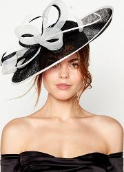 Black Loop And Quill Saucer Fascinator
