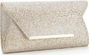 Gold Ombre Glitter Envelope Clutch Bag