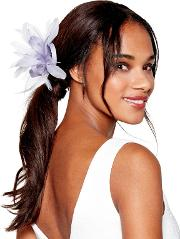 Light Gold Bow Feather Fascinator