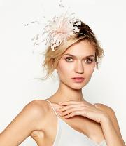 Light Pink Feather Band Fascinator