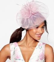 Light Pink Organza Fascinator