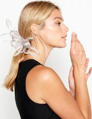 Lilac Loop And Feather lamour Clip Fascinator