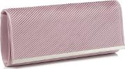 Lilac Pleated Satin Clutch Bag