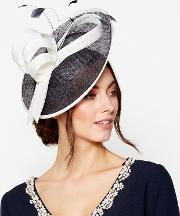 Navy Two Tone Saucer Fascinator