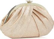 Pink Gathered Clutch Bag