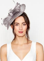 Silver Metallic Wave Fascinator