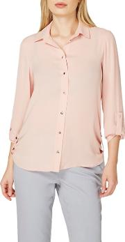 Blush Tab Roll Sleeve Shirt