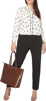 Curve Black Formal Trousers