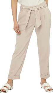 Petite Beige Tapered Trousers