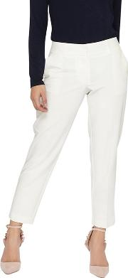 Petite Ivory Naples Ankle Grazer Trousers