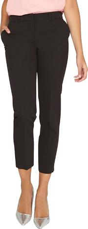 Tall Black Ankle Grazer Trousers