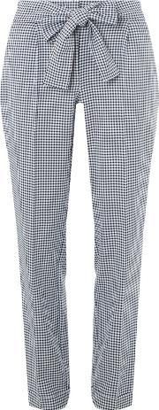 Tall Gingham Tie Tapered Trousers