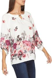 Tall Ivory Floral Blouse
