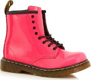 Girls Pink Leather Patent brooklee Boots