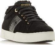 Black Leather elsie Casual Trainers