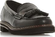 Black Leather gennia Loafers