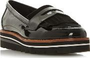 Black Leather gracella Loafers