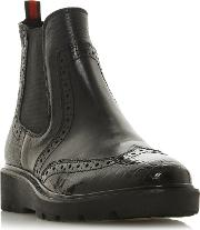 Black Leather palomo Ankle Boots
