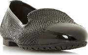 Black Leather wf Genevene Wide Fit Loafers