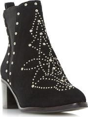 Black octal All Over Studded Chelsea Boots