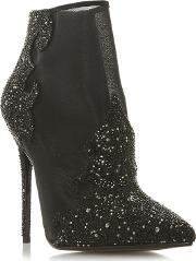 Black ophelea High Stiletto Heel Ankle Boots