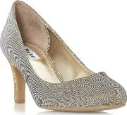 Bronze amalei Mid Stiletto Heel Court Shoes