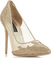 350f128a1815 Gold brigettee High Stiletto Heel Court Shoes. dune