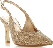 Gold chorus Mid Stiletto Heel Slingbacks