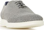 Grey balotelli Knitted Brogue Wedge Shoes
