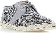 Grey fenntons Mesh Detail Lace Up Canvas Shoes